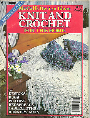 Vintage McCall's Design Ideas Knit and Crochet for the Home Pattern Magazine