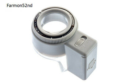 Magnifier with LED Illuminated Adjustable Stand Coin Collecting Hobbies NEW