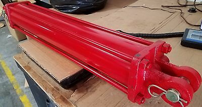 """NEW 4"""" BORE x 24"""" STROKE TIE ROD CYLINDER 2"""" DIAMETER ROD  /  ONLY 5 AVAILABLE"""