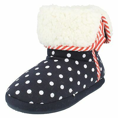 Girls Junior Clarks Sleep Walk Pull On Warm Fleece Winter Slippers Boots Size