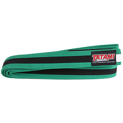 Tatami Fightwear Kids BJJ Rank Belt - M2 - Green/Black