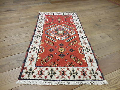 2.1x4  BREATHTAKING HAND MADE WOOL PERSIAN KAZAK  SERAPI HERIZ VEG DYES RUG