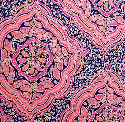 """2017 Lilly Pulitzer Cant Resist Twill Fabric 34""""x57"""""""