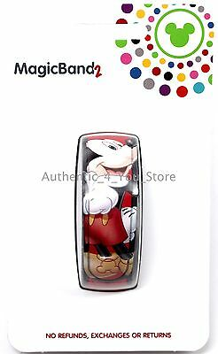 NEW Disney Parks Mickey Mouse Autograph Red MagicBand 2 Link It Later Magic Band
