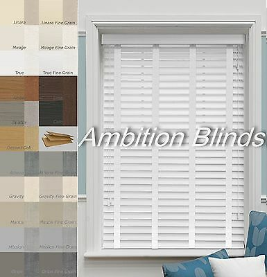 Faux Wood Wooden Venetian Blinds With Tapes  Child Safe  Waterproof 35Mm Or 50Mm