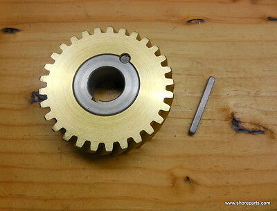 Hobart A120-A200 00-124751-0003 60 Hz Bronze Worm Wheel Gear & Bushing + Key