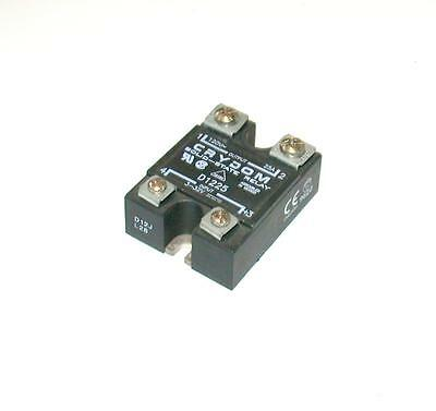 Crydom  D1225  Solid State Relay 120 Vac 25 Amp 3.5-32 Vdc Logic