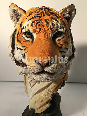 NEW WildLife Tiger Bust Statue Figures Sculpture Ship Immediately !!!