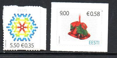 Estonia Mnh 2009 Sg608-609 Christmas
