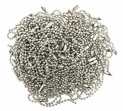 "4.5"" Inch Nickle Plated Steel Ball Key Chains Made in USA - Pack of 100"