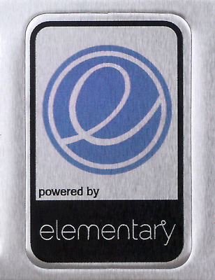 powered by elementary os Linux Metal Decal Sticker Computer PC Laptop Badge