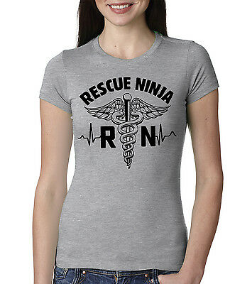 823dad1b Nurse Rescue Ninja Gift T-shirt Nursing Women Registered Nurse Funny Tee  shirt