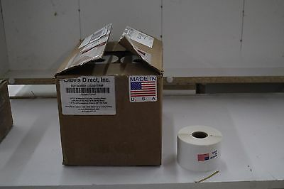 19 thermal transfer label  w/ flaps 2.2x.5
