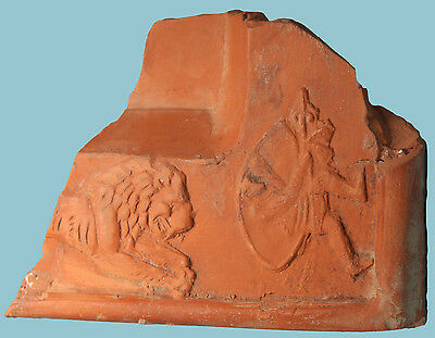 Roman Terra Sigillata Fragment: Lion and Venator - Ancient Art & Antiquities