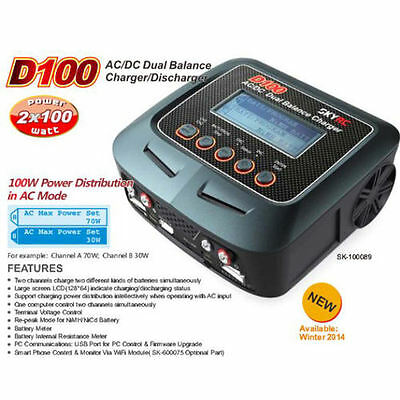 Sky RC D100 Charger (2x100w) with Power Dist in AC Mode - SK-100089