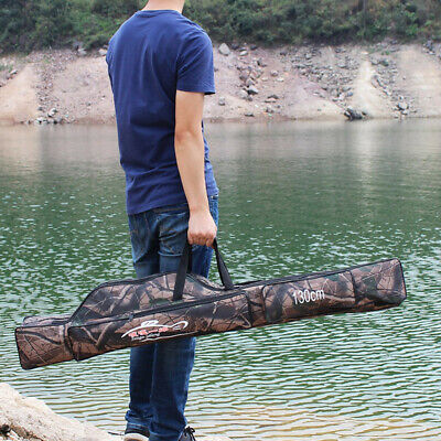 Camo 130cm Fishing Rod Holdall Case Bag Storage Carry Luggage for Rods Pole