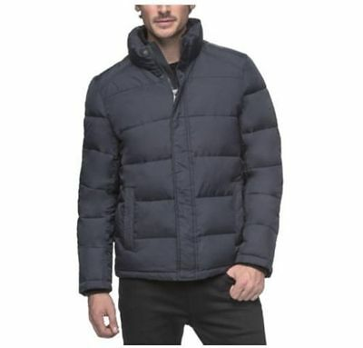 Nwt Andrew Marc L - Xl Black Or Blue Mens Quilted Full Zip Puffer Jacket Coat