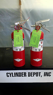 Two Pack 5lb Fire Extinguisher - Purple K Dry Chemical - Blemished - New Tag -