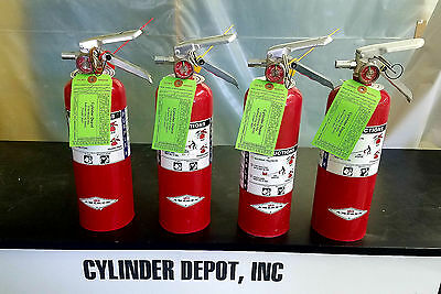 Four Pack 5lb Fire Extinguisher - Purple K Dry Chemical - Blemished - New Tag -