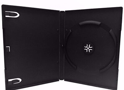 100Pcs Premium Standard Single DVD CD Case Black 14mm