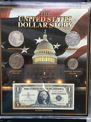 The United States Dollar Story of Silver Dollars & Silver Certificate Plack