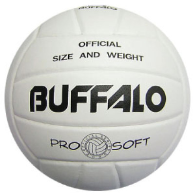 Buffalo Sports Pro Soft White Volleyball - Official Size & Weight (Voll036)
