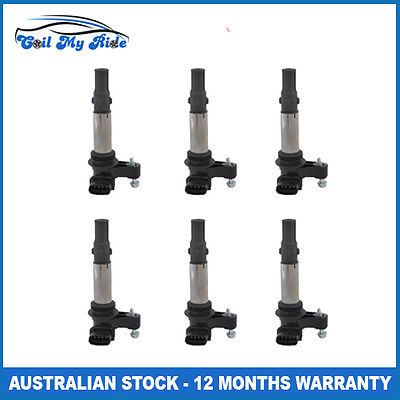 6 x Ignition Coil for Holden Commodore VZ Adventura Calais Statesman Rodeo RA V6