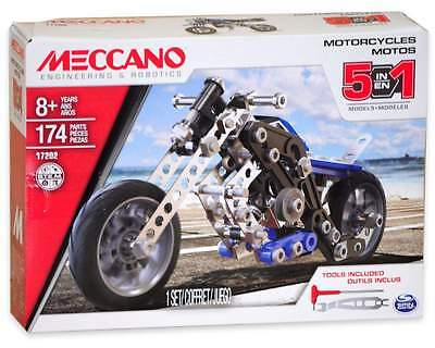Meccano Motorcycles 5 in 1 Set (17202)