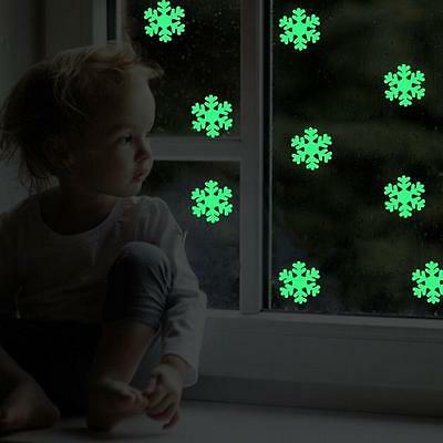 Glow In The Dark Snow Flake Wall Stickers Kids Baby Nursery Decals 50pcs - CB