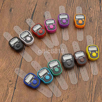 1pcs Mini 5 Digit LCD LED Electronic Digital Golf Finger Hand Ring Tally Counter