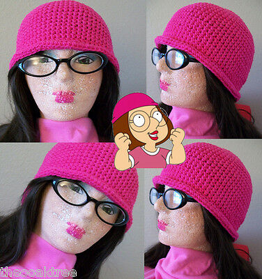 Family Guy Cartoon Hat Meg Griffin Cosplay Beanie Handmade Crochet Funny Gift
