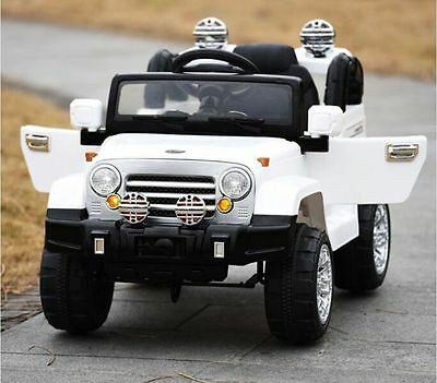 JEEP Wrangler For Kids (Model JJ245) Ride On Car With Remote Control White