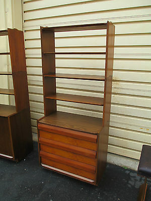 51537  Mid Century Modern Cabinet  Server Chest  w/ Bookcase Top