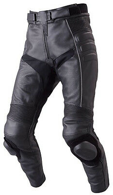 32 Size Mens Perforated Leather Motorcycle Pant With Knee Pucks