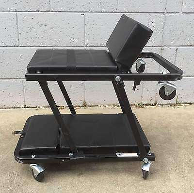 """NEW Garage Car Mechanic Creeper Seat 48"""" 2 in 1 With Adjustable Head Rest"""