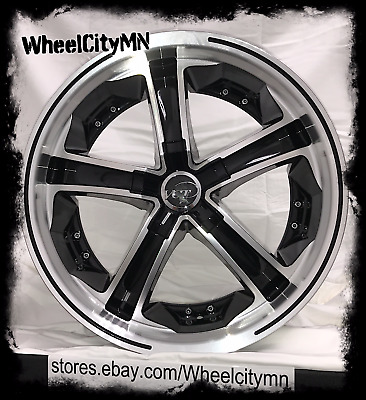 18 inch black VCT Mossino V60 wheels fits Cadillac ATS CTS STS DTS Deville 5x115