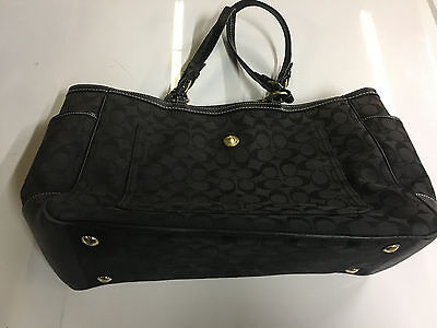 Coach Diaper Bag Baby Tote Signature Multi-function A0771 Black 100% Authentic