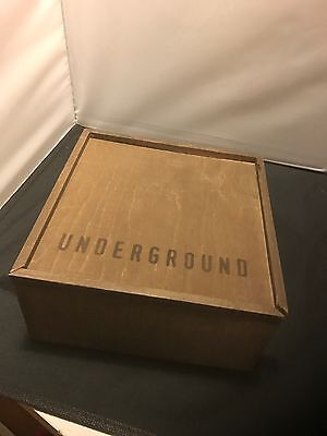 Amazing Wood Box Wgn Underground Tv Show Press Kit Box Lots Of Stuff