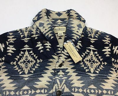 Denim & Supply Ralph Lauren Men Southwestern Indian Aztec Knit Sweater Cardigan
