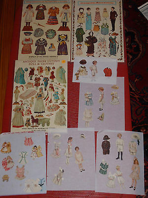 A Lot Of Vintage Paper Doll Cutouts Lettie Lane And 3 Merrimack Collection 1977