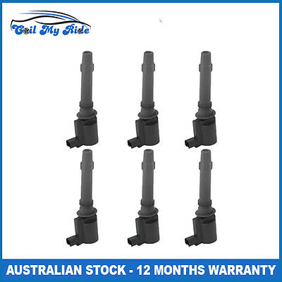 6 x Ignition Coil for Ford Falcon BA BF Territory SX SY XR6 Turbo V6 FG LPG Only