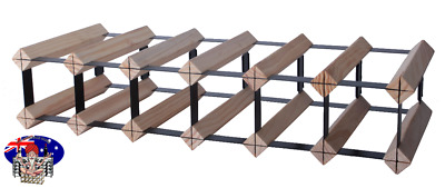 12 OR 7 Bottle Pine Timber Wine Rack -Genuine BORDERS Product - 100% Australian