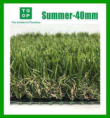 Summer-40mm Artificial Grass Synthetic Turf Lawn Carpet 2m or 4m Width