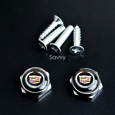 4 Pcs Separate Chrome License Plate Frame Bolt Screws for Land Rover All Model