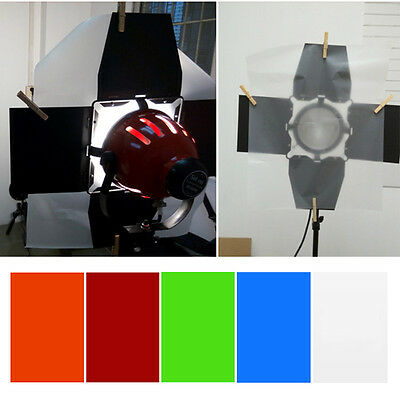 Professional 40x50cm Gel Color Filter Paper For Photography Red Head Light Lamp