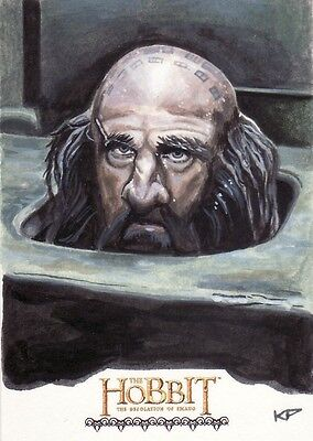 "The Hobbit Desolation of Smaug Chris Penix ""Dwalin the Dwarf"" Sketch Card"