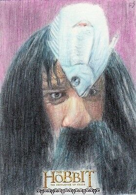The Hobbit Desolation of Smaug Richard Salvucci Sketch Card