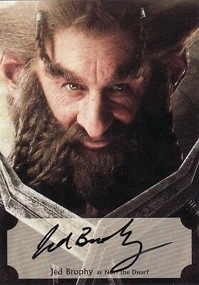 The Hobbit Desolation of Smaug Jed Brophy Poster Auto Card 43/75
