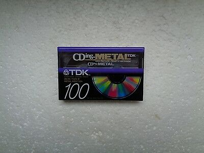 Vintage Audio Cassette TDK CDing-Metal 100 * Rare From 1997 *