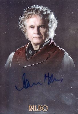 Lord of the Rings Trilogy Ian Holm as Bilbo Auto Card LotR